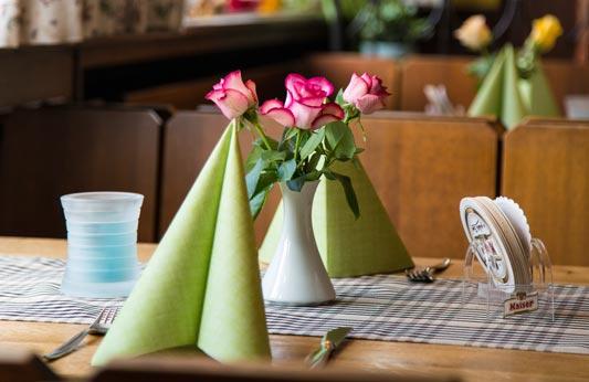 Gaststätte Tisch